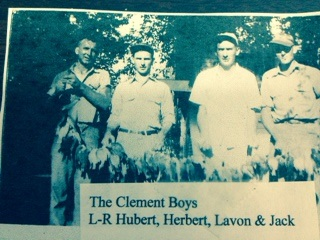 clement boys hubert, herbert, lavon, and jack