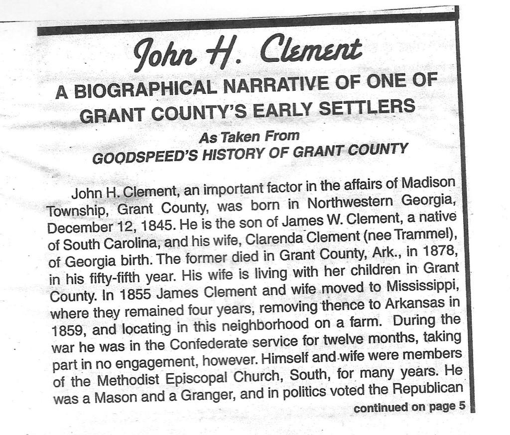 John H Clement